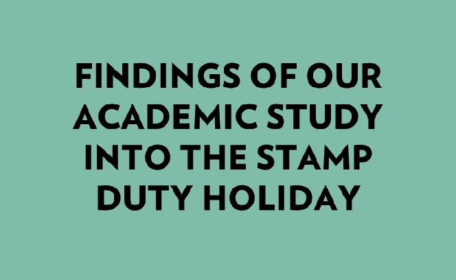 Our latest research report into the impact of the stamp duty holiday.